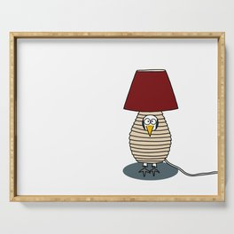 Eglantine la poule (the hen) disguised as a lampe. Serving Tray