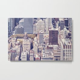 New York City, Manhattan with vintage tone filter Metal Print