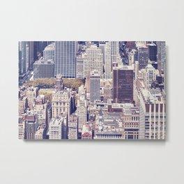New York City, Manhattan with vintage tone filter Metal Print