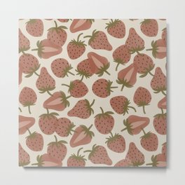 Strawberry Bowl Metal Print