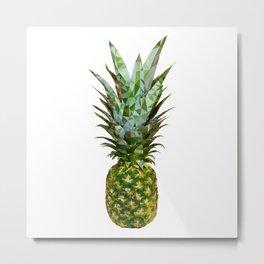 Pineapple low poly Metal Print