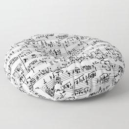 Hand Written Sheet Music Floor Pillow