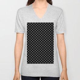 Dots (White/Black) Unisex V-Neck