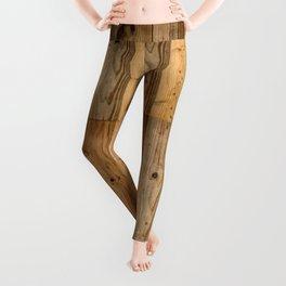 Wood Planks Dark Leggings