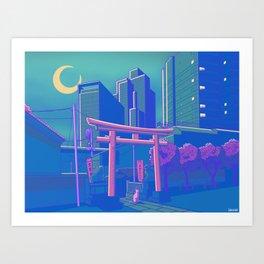 Neon Moon Kunstdrucke