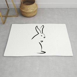 Zen Snow Bunny Rug