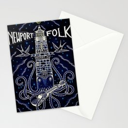 Tribute 1959 Newport Folk Festival - Fort Adams, Newport, Rhode Island portrait painting Stationery Cards