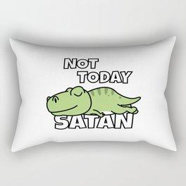 Not Today Satan Funny T-Rex Rectangular Pillow
