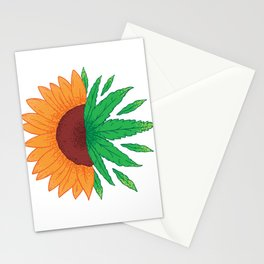 Sunflower with grass Stationery Cards