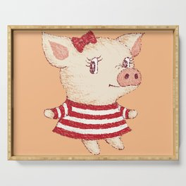 Cue Pig girl Serving Tray