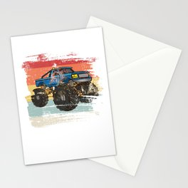 Retro Monster Truck Stationery Cards