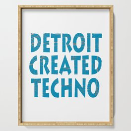 """""""Detroit Created Techno"""" tee design. Home of techno fans like you! Makes an awesome  Serving Tray"""