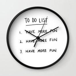 To Do List Wall Clock