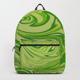 Abstract liquid green marble texture Backpack