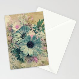 Vintage Pastel Blue Daisies Stationery Cards