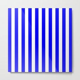 Vertical Stripes (Blue & White Pattern) Metal Print