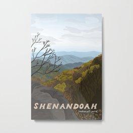 Shenandoah National Park, Virginia, Shenandoah River, Retro Vintage Style Poster Metal Print