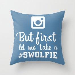 #swolfie Throw Pillow