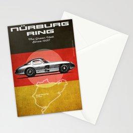 Nürburgring Vintage 300SLR Uhlenhaut Coupe Stationery Cards