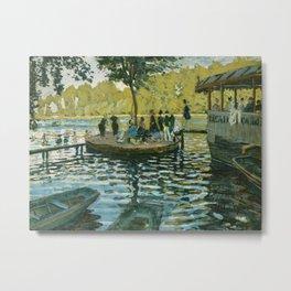 Claude Monet - La Grenouillère Metal Print