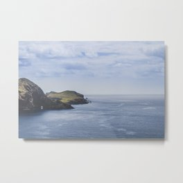 Mountains and the ocean, on the Island of Madeira / fine art photography print Metal Print