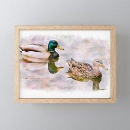 Mr. and Mrs. Mallard Framed Mini Art Print