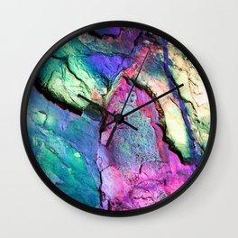 Textured Minerals Fuchsia Teal Purple Wall Clock