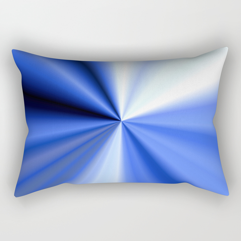Blue Rays Rectangular Pillow RPW7723873