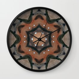 Bushfire Gum Medallion 1 Wall Clock