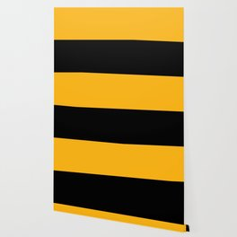 Pittsburgh Black And Yellow 412 Steel City Sports Colors Abstract Print Wallpaper