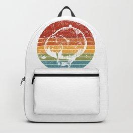 Retro Color Kiwi Bird Backpack