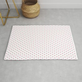 Small Hot Pink heart pattern Rug