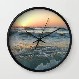 Sunsetting into Sea Wall Clock