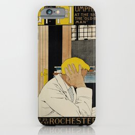 geo. p. humphrey   at the sign of the old bookman. 1896  poster iPhone Case