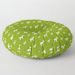 Llama 1- Green Floor Pillow