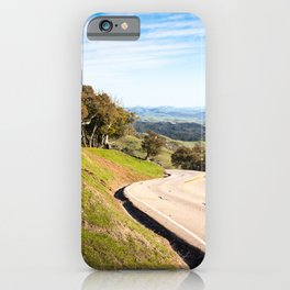 Winding road near Hearst Castle iPhone Case