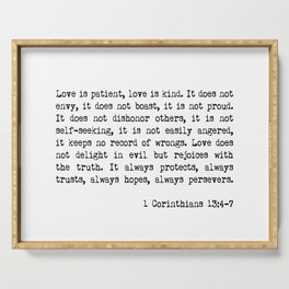 Love is Patient, Love is Kind Serving Tray