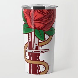 Rose Dagger Goth Person Or Artist Gift Travel Mug
