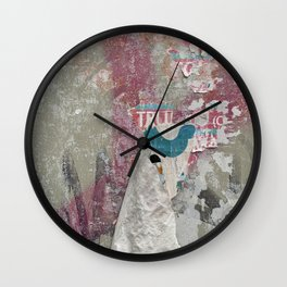 Berlin Posters-Fade to Pink Wall Clock