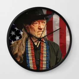 Willie Nelson Wall Clock