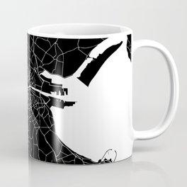 Dublin Street Map Black and White Coffee Mug