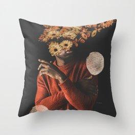 Black Pride - Digital Collage Throw Pillow