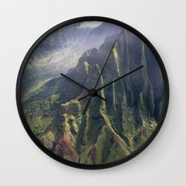 Helicopter View of Heaven in Hawaii Wall Clock