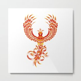 Mythical Phoenix Bird Metal Print