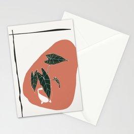 Boho Green Art Stationery Cards