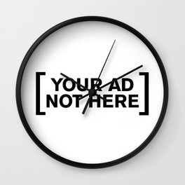[Your Ad Not Here] Wall Clock