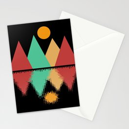Moon Over Four Peaks Stationery Cards