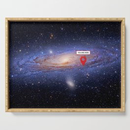 You are here: Milky Way, Earth Serving Tray