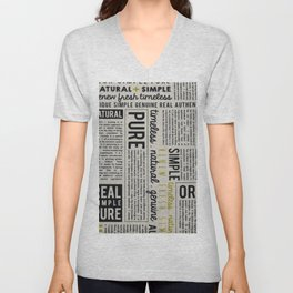 Newspaper Unisex V-Neck