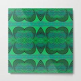 Powerful Feng Shui Healing Green Emerald Psychedelic Geometric Metal Print